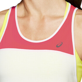 asics Loose Strappy Tank Mujer, brilliant white/laser pink